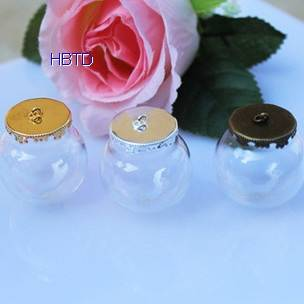 Hand Blown Globe Clear Hollow Jewelry Crystal Glass Ball Bottles Jewelry Covers Spheres Necklace Pen