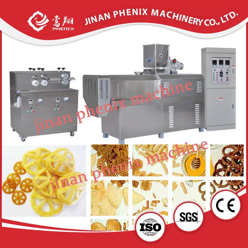 corn puffeing snack food pellet extruder making machine
