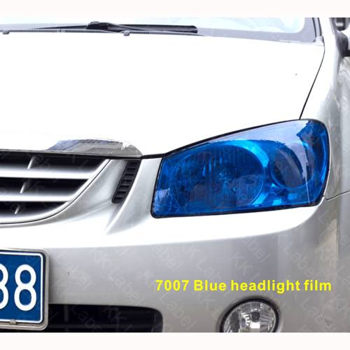 Dark blue headlight film