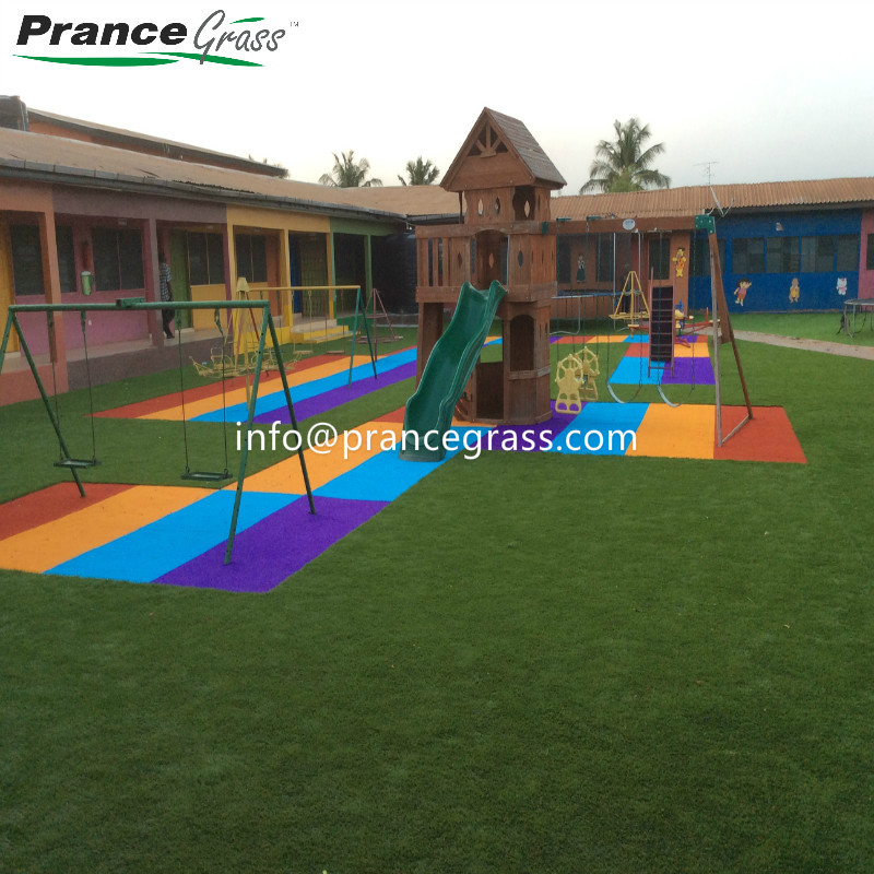 Multicolor Artificial Grass for Playground