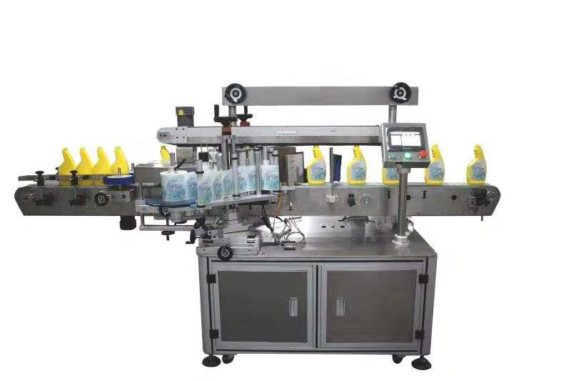 automatic round bottle plane box side labeling machine sticker labeller label applicator
