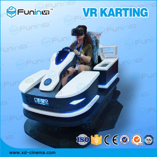 selling 2018 new product VR RACING KART game machine with VR helmet