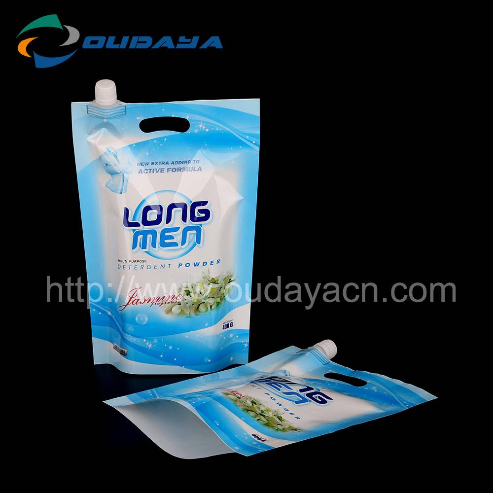 Detergent Standing Up Pouch With Spout Cap Customized Printing