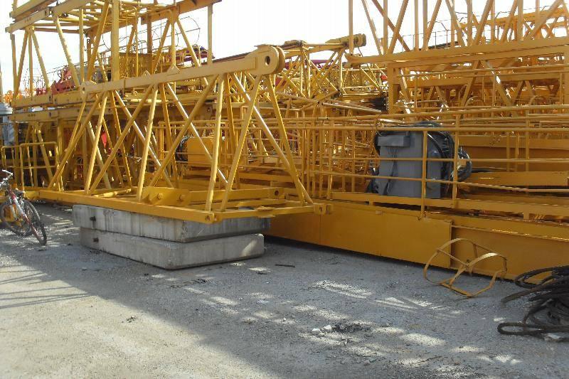 Potain 12 ton tower crane