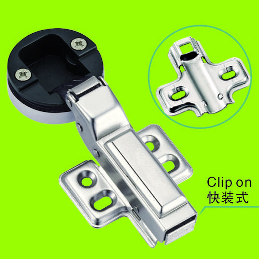 clip on hinges for glass door with plastic cup seat