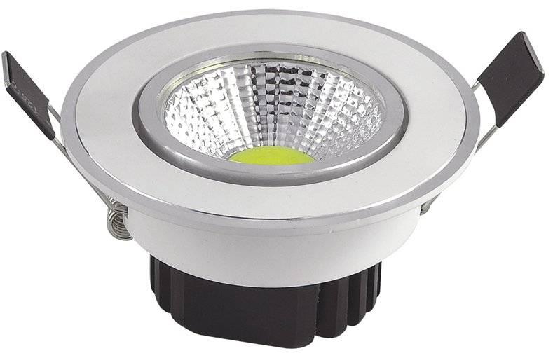 COB 3W 85-265V White LED ceiling Light