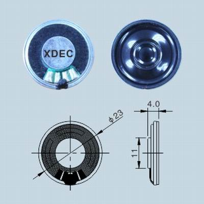 23mm ripple pattern diaphragm mylar speaker 8ohm 0.5W