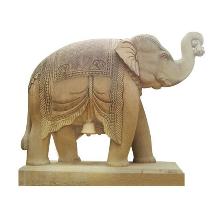 Outdoor Decoration Marble Stone Elephant Sculpture