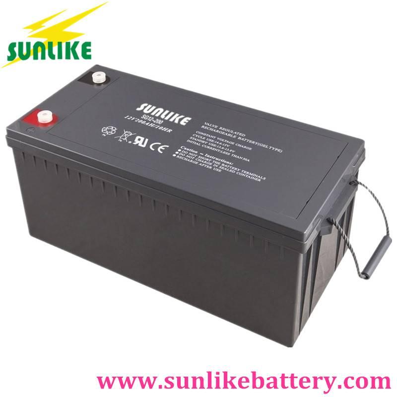 Solar Gel Battery 12V200ah Power Battery for Energy Storage