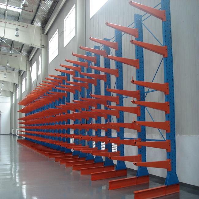 Light Duty Single Side Long Shape Cantilever Shelving Lumber Storage Arm Rack