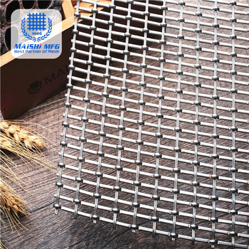 Crimp woven type stainless steel decoration mesh wall