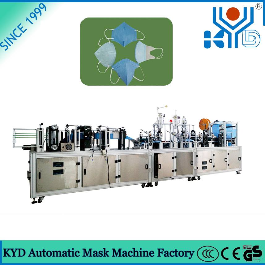 KYD 2015 New Fully Automatic Disposable Non Woven Stereo Face Mask Making Machine