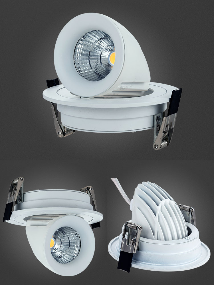 CE RoHS Approved Aluminum Die Casting Ra80 COB 7W LED Spotlights