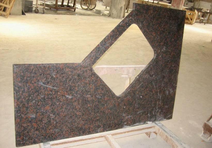 tan brown granite kitchen countertops,kitchen top with edging polish