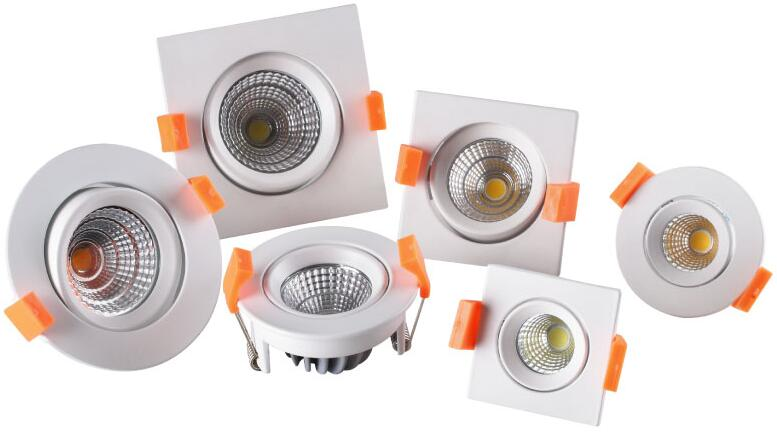 led spot light/down light 6W Round/Square
