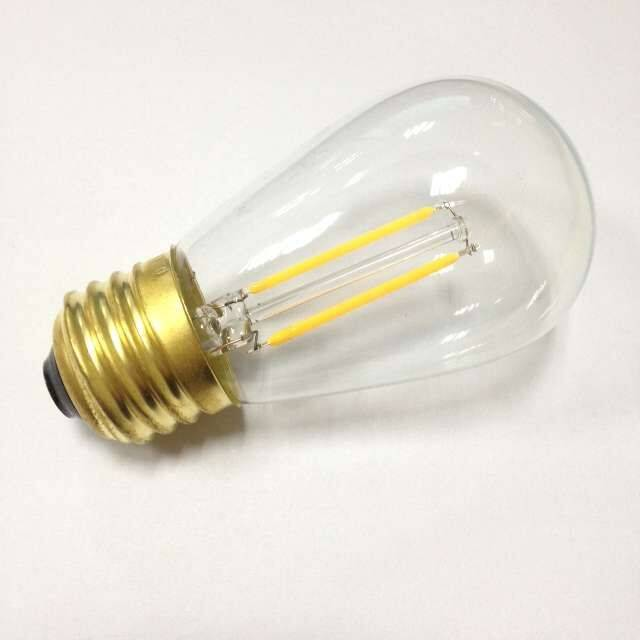 dimmable LED filament S14 light bulb UL ETL listed