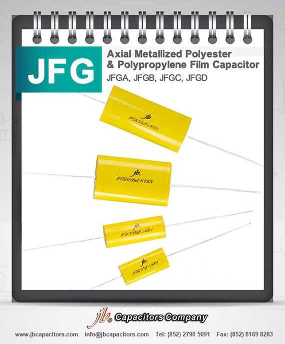 JFGD-Axial Metallized Polypropylene Film Capacitor (FLAT OVAL SHAPE)