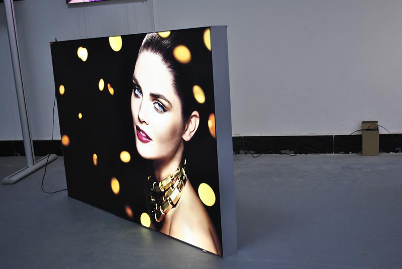 Fabric Led Light Boxes 60mm Thickness Fabric Frameless Backlit LED Illuminated Light Box