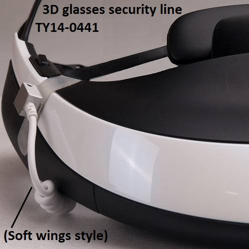3D glasses security alarm display line