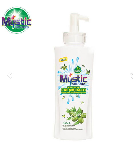Orchard Moisturising Cream Bath Contain Amino Acids Moisturizing Factor Olive 350ml MYSTIC