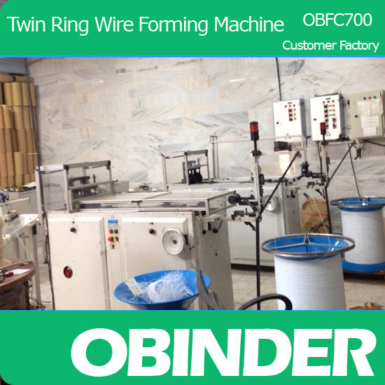 Obinder Double Wire O forming machine OBFC700 from customer factory