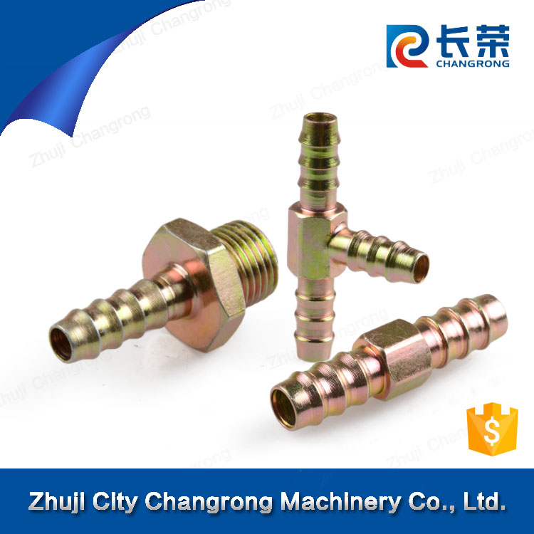 Hydraulic Fitting Brass Nipple Stainless Steel Fitting Hose Barb