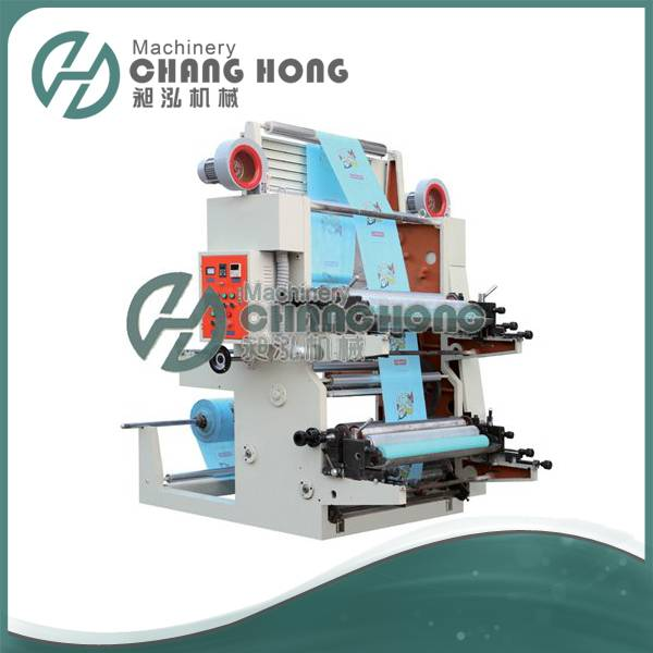 CH802-1200 2 Color Plastic film Flexographic Printing Machine