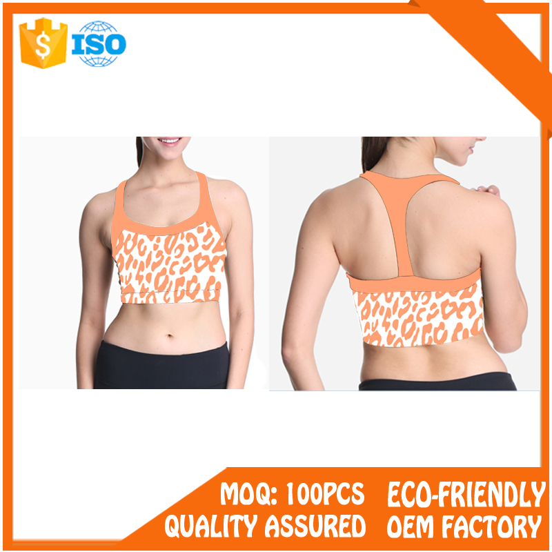 High impact padded custom blank wholesale sports bra
