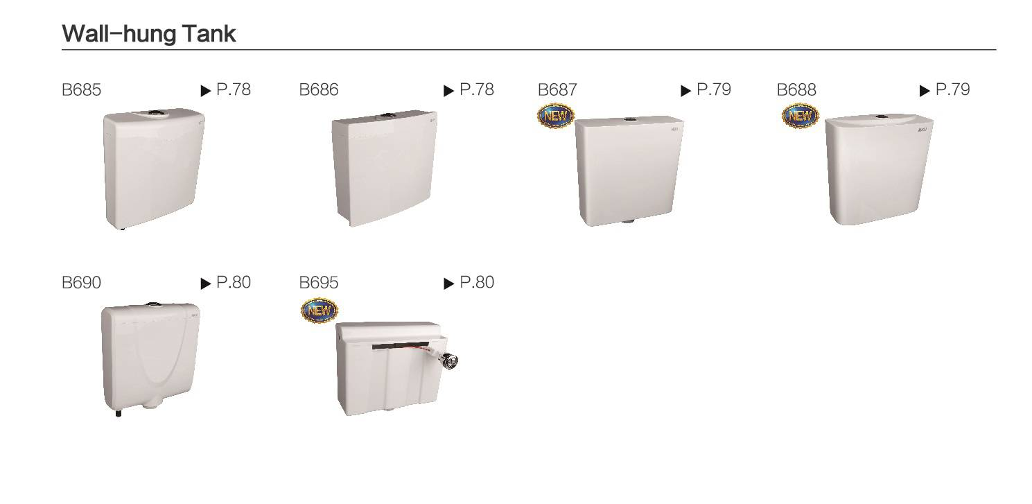 Wall-hung Tank/Toilet tank/Cistern/For sanitary toilet