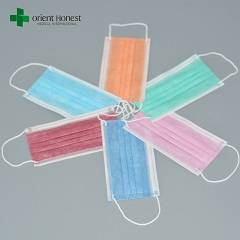 Disposable 3 ply face mask with ear-loop