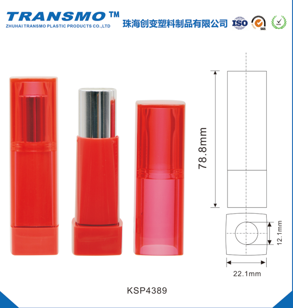 Clear Cap Lipstick Container OEM Lipstick Tube