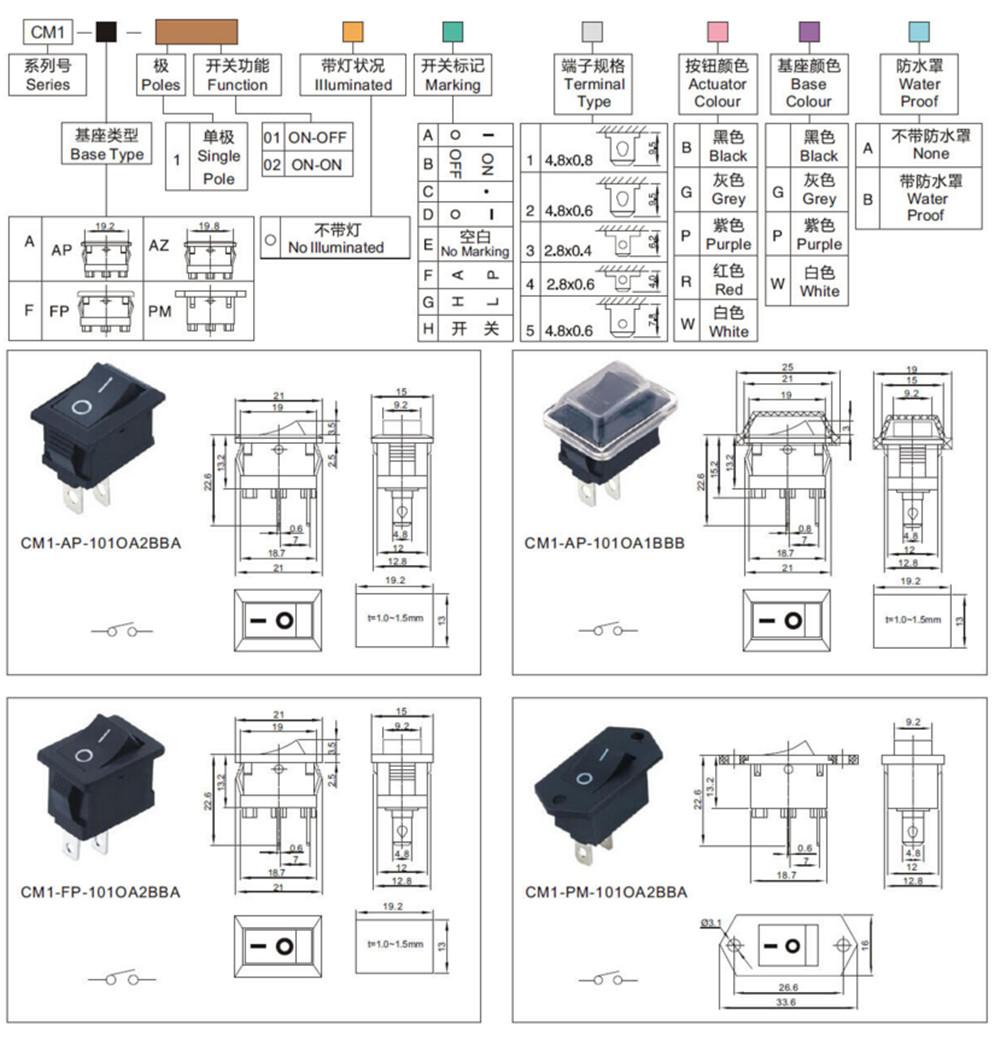 Rocker Switch industrial switch