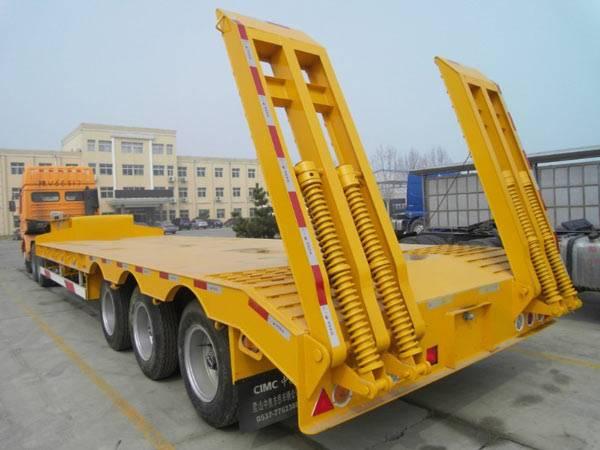 16m low bed semi-trailer 60t capacity