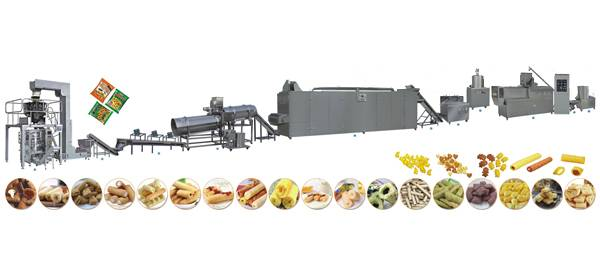 automatic puffed snack production line