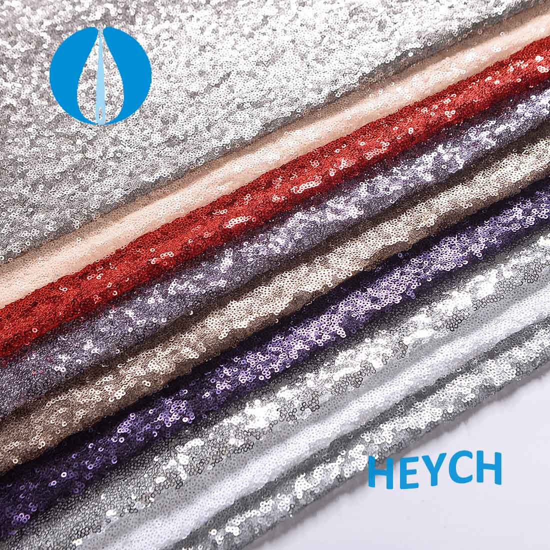 H3012 Allover sequin fabric for photo backdrop