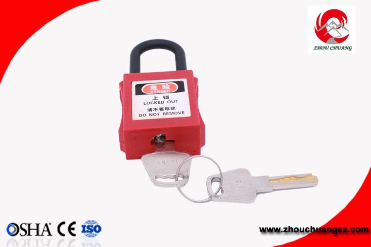 11be4602cc0 38mm Nylon Insulation Shackle Keyed Alike Master Key safety ABS Padlock