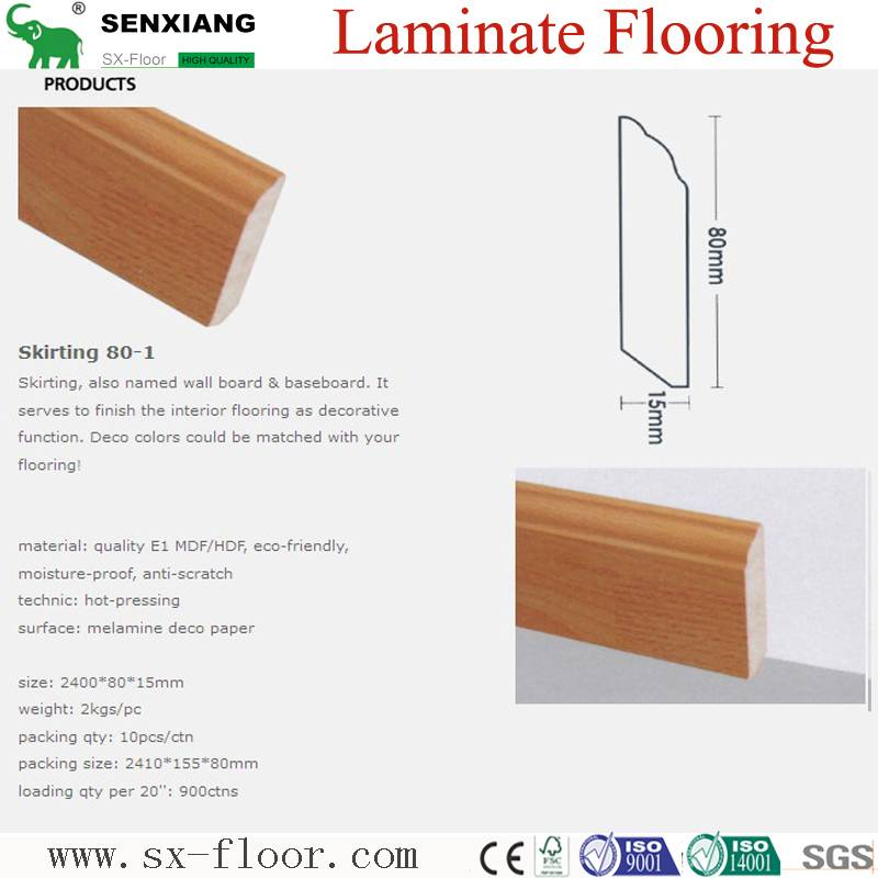 Accessories of Laminate Flooring (80mm Skirting)