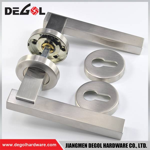 China supplier stainless steel solid door hande and key