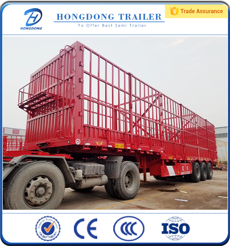 strengthen side wall semi trailer with Fuwa BPW axles
