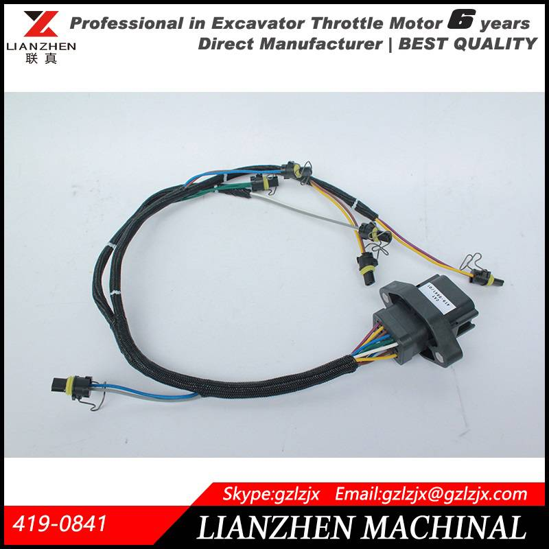 Excavator E330D/336D Ignition wires wiring harness 419-0841 direct manufacturer
