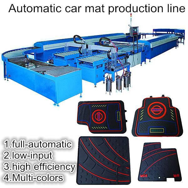Automatic multicolor pvc car mat machine