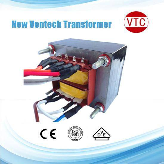 225V-17.5V-0-17.5V-225V laminated power transformer with 10W-60W
