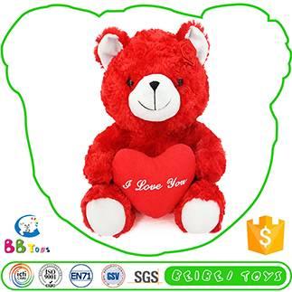 red happy bear