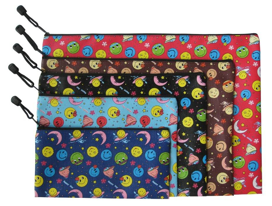 Smile Moon Face zipper bag