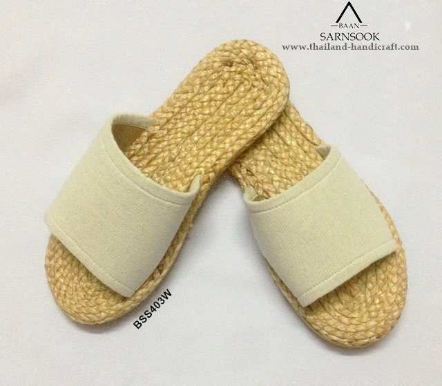 Summer slippers naturals handmade with water Hyacinth