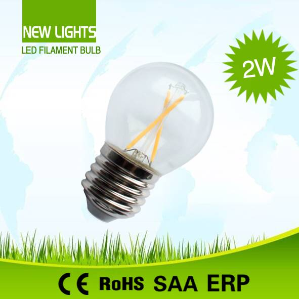 Multi-directional lighting G45 2W 4W LED Filament Bulb