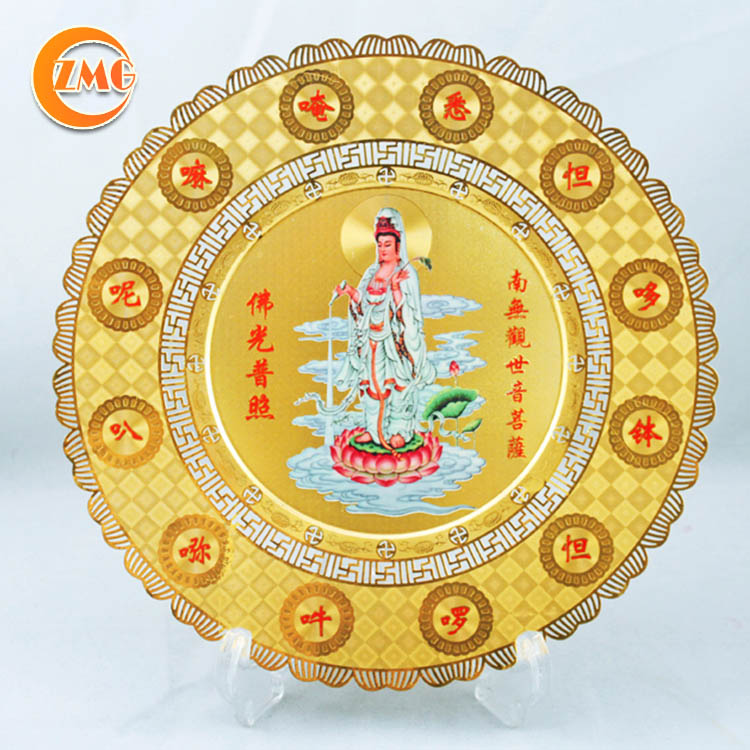 high quality religious souvenir gifts personalized metal tray honored plate