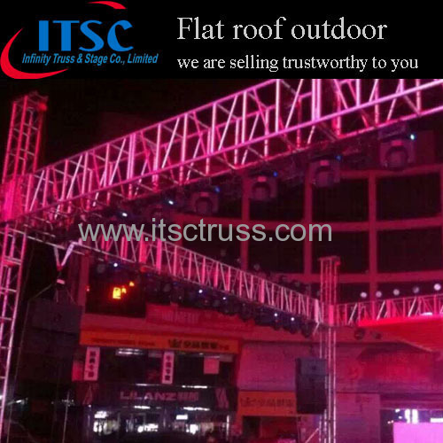 Outdoor event flat roof truss system
