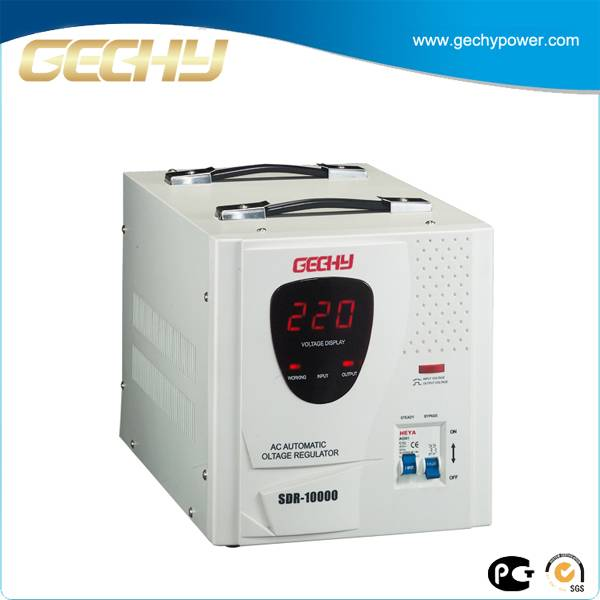 New type copper coil SDR-1 2 3 5 10 KVA single phase automatic home power voltage stabilizer