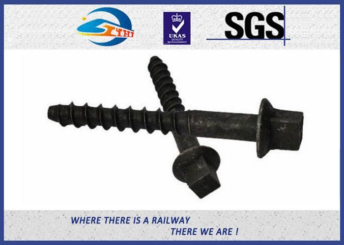 ZhongYue Railroad Sleeper Galvanized Screws with Plain / Zinc / HDG / Wax Surface